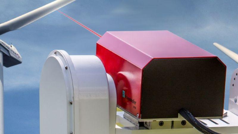 Fotomontage des Messsystems mit Windenergieanlage