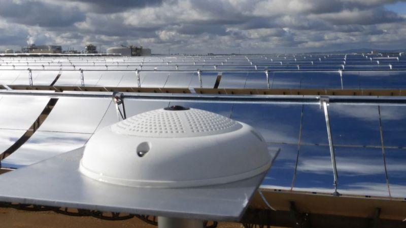 Wolkenkamera im Parabolrinnenkraftwerk La Africana