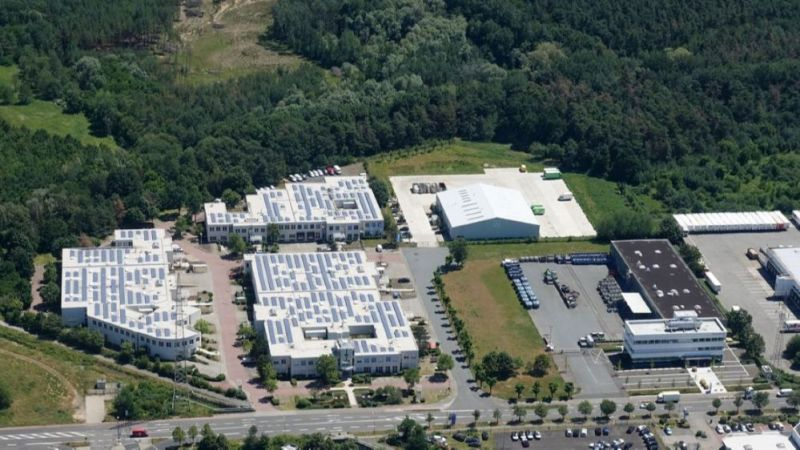 Industrial area from the bird's eye view