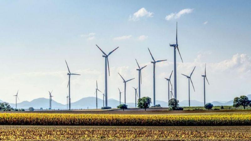 Windpark im Binnenland