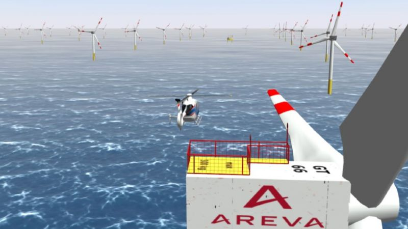 Sichtsimulation im AVES-Flugsimulator