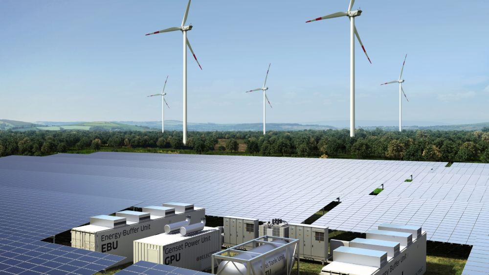 Zukünftige Photovoltaikkraftwerke müssen verstärkt dazu beitragen, das Stromnetz zu stabilisieren: Hybridkraftwerke kombinieren erneuerbare Energien mit Batteriespeichern und klassischen Erzeugern wie Dieselgeneratoren – unterstützt durch innovative Planungs- und Steuerungssoftware.