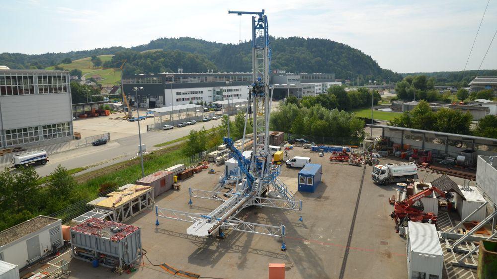 Workover rig set up for test operation
