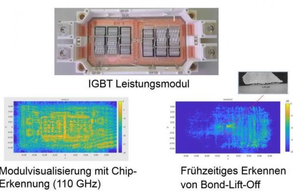 Typische Schadenbilder (mit Radaruntersuchung) auf denen zu erkennen ist, wie sich die Kontakte ablösen (sogenanntes Bond-Lift-Off).