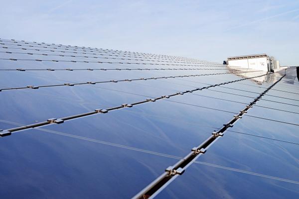 Solar power plant with megawatt-class central inverter.